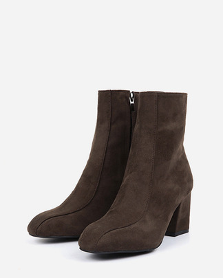 2-line suede ankle boots (2 colors)