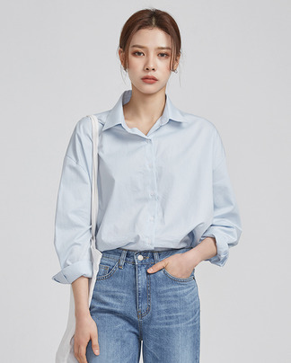 rounding hem casual shirts (3 colors)