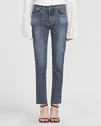 slim silhouette boots cut denim pants (25-29)