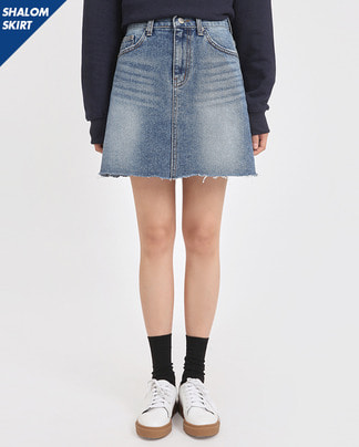 SHALOM denim mini skirt