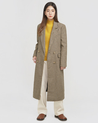 most vintage check wool coat