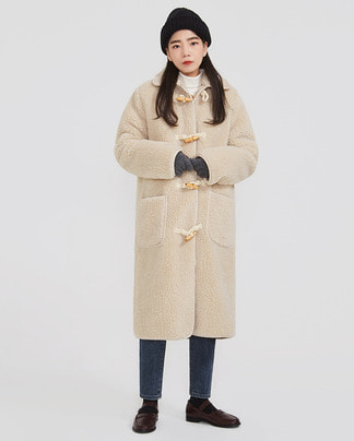 teddy soft long coat