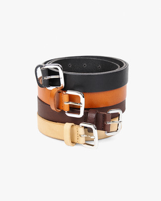 cowhide square belt