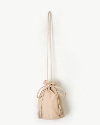cute suede mini bucket bag