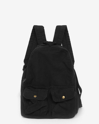 two pocket cotton backpack (3 colors)