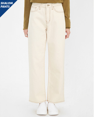 SHALOM stitch cotton pants (s, m, l)