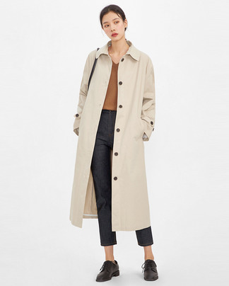 clear fall trench coat
