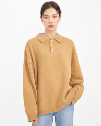 cover wool collar knit