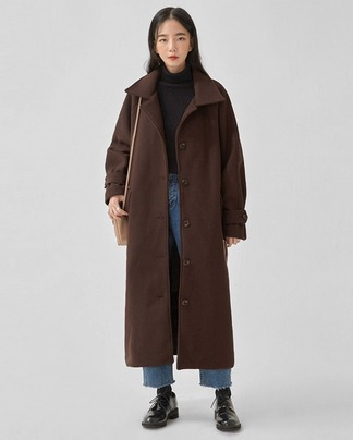 coach belted wool single coat