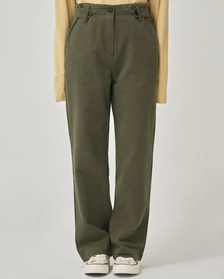 side button cotton pants