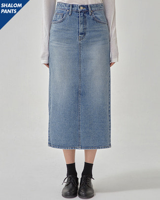SHALOM long denim skirt (s, m)