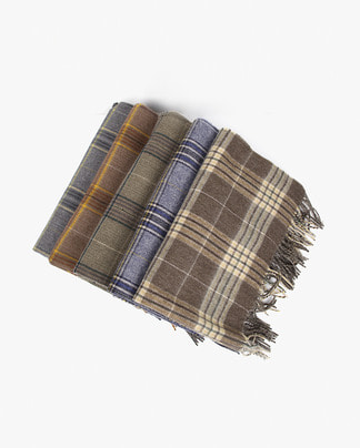 shawl check muffler