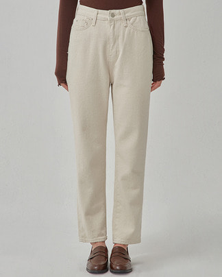 saint cream cotton pants (s, m)