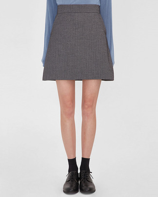 much herringbone mini skirt (s, m)