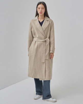 loose trench handmade coat (wool90%)