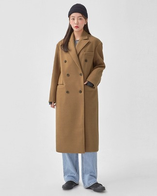 laurent double long coat