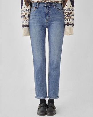 span straight denim pants (s, m, l)