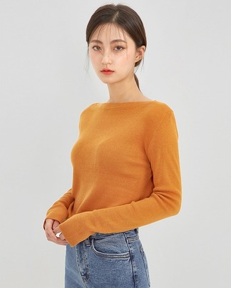 boat neck fall knit