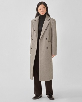 mac herringbone double coat