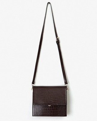two-way crocodile skin bag