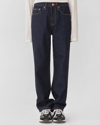 december straight denim pants (s, m)