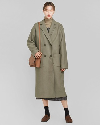 natural cute daily wool coat