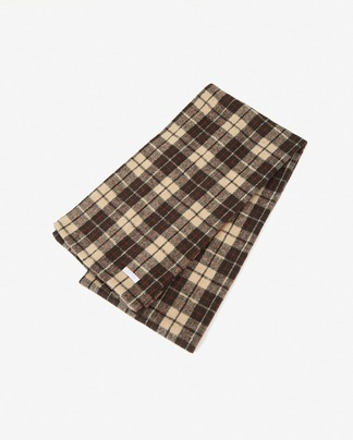 timeless check wool muffler