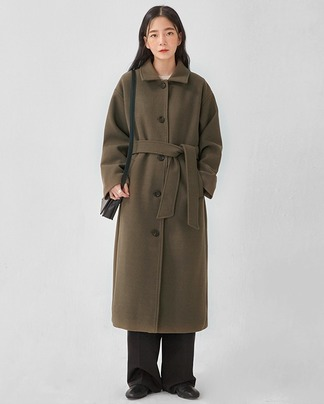 robe single long coat