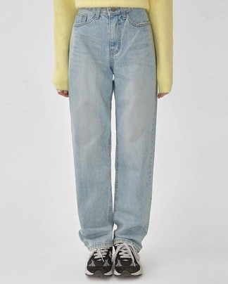fancy straight denim pants (s, m, l)
