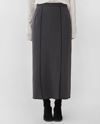miu line long skirt (s, m)