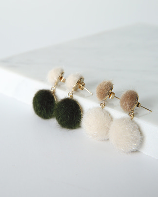 cute fur earring