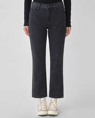 woody black denim pants (s, m, l)