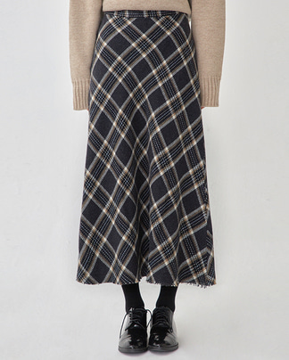 sugar check flare skirt