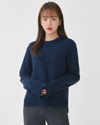 zoom side slit racoon knit