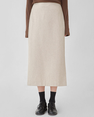 bread wool slit skirt (s, m)