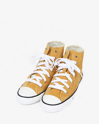 corduroy high canvas sneakers (230-250)