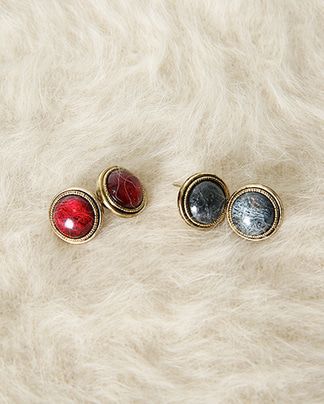 winter circle earring