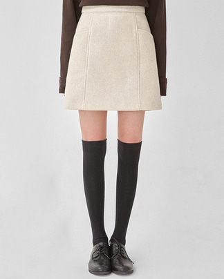 cozy wool short skirt (s, m)