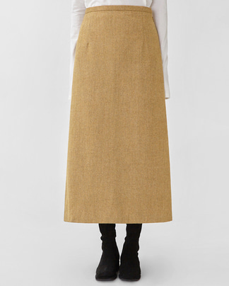 merry herringbone wool skirt (s, m)