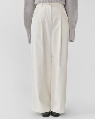 will corduroy wide pants (s, m)