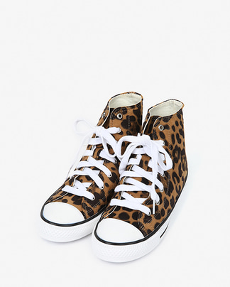 leopard high canvas sneakers (230-250)