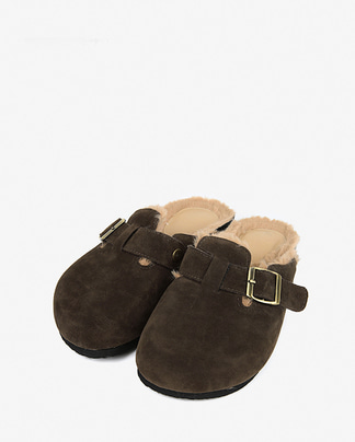 round fur slipper (230-250)