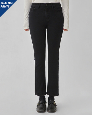 SHALOM black denim pants (s, m, l)