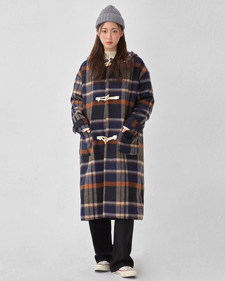 eden check duffle coat