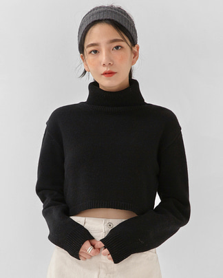 chance crop wool polar knit