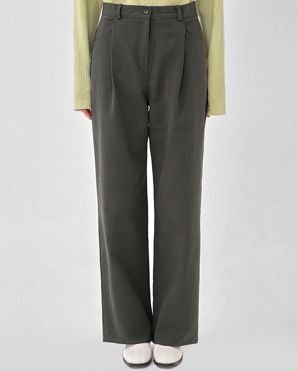 then cotton wide pants (s, m)