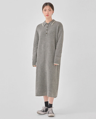 safe collar wool knit ops