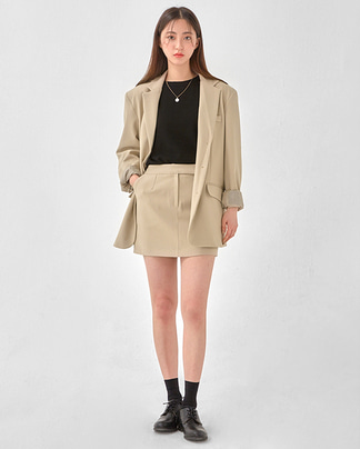 shoulder three botton jacket