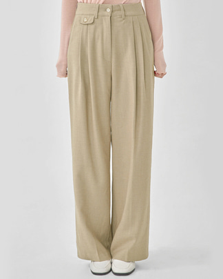 mark pocket long wide slacks (s, m)