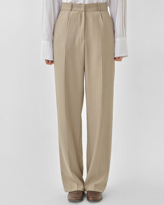 step stripe wide slacks (s, m)
